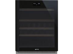 Cantinetta frigo da incasso con anta in vetro classe GCVI638RWN3 - SMEG
