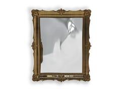 Specchio rettangolare in legno e vetro con cornice da pareteD. DINIS - BOCA DO LOBO