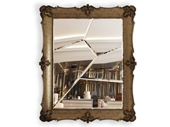 Specchio da terra rettangolare in legno e vetro con corniceD. DINIS FRAGMENTED - BOCA DO LOBO