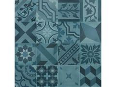 Pavimento in gres porcellanato effetto cementineD_SEGNI BLEND | Decoro Mix Azzurro - MARAZZI GROUP