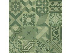 Pavimento in gres porcellanato effetto cementineD_SEGNI BLEND | Decoro Mix Verde - MARAZZI GROUP