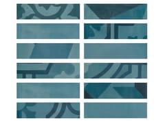 Rivestimento in gres porcellanato effetto cementineD_SEGNI BLEND | Listello Azzurro - MARAZZI GROUP