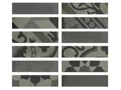Rivestimento in gres porcellanato effetto cementineD_SEGNI BLEND | Listello Carbone - MARAZZI GROUP