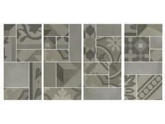 Mosaico in gres porcellanatoD_SEGNI BLEND | Mosaico Grigio - MARAZZI GROUP