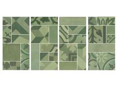 Mosaico in gres porcellanatoD_SEGNI BLEND | Mosaico Verde - MARAZZI GROUP