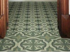 Pavimento in gres porcellanato effetto cementineD_SEGNI BLEND | Tappeto 3 Verde - MARAZZI GROUP