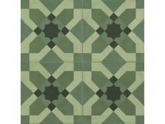 Pavimento in gres porcellanato effetto cementineD_SEGNI BLEND | Tappeto 4 Verde - MARAZZI GROUP