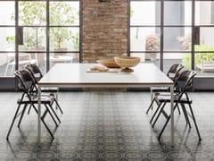 Pavimento in gres porcellanato effetto cementineD_SEGNI BLEND | Tappeto 9 Carbone - MARAZZI GROUP