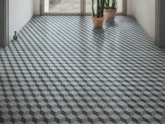 Pavimento in gres porcellanato effetto cementineD_SEGNI BLEND | Tappeto 10 Carbone - MARAZZI GROUP