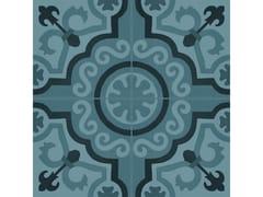 Pavimento in gres porcellanato effetto cementineD_SEGNI BLEND | Tappeto 2 Azzurro - MARAZZI GROUP
