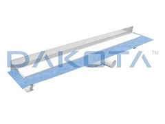 Dakota, DAKUA+ GLASS-B-WALL Scarico per doccia in acciaio inox