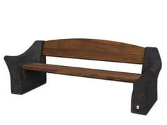 Panchina con schienale in calcestruzzo armato e legnoDALIA - CALZOLARI