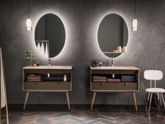 Mobile lavabo da terra in Dualite®DAMA | Mobile lavabo - ARTELINEA