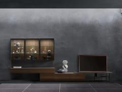 Parete attrezzata in rovere con illuminazione integrataDAY MOOVE | Composizione M105 - TOMASELLA IND. MOBILI