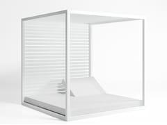 Letto da giardino matrimoniale reclinabile in alluminio termolaccato a baldacchino DAYBED | Letto da giardino in alluminio - Daybed