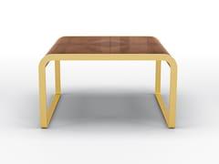 Tavolino rettangolare in noce e metallo satinato oroDEA - BRUNO ZAMPA