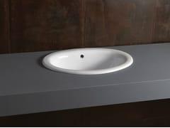 Lavabo da incasso soprapiano ovale in ceramica DECOR 56 - Various