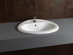 Lavabo da incasso soprapiano ovale in ceramica DECOR 63 - Various