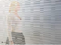 Parete mobile in vetro decorato DECORFLOU® DESIGN BARCODE -