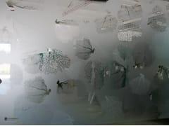 Parete mobile in vetro decorato DECORFLOU® DESIGN CORALLINE -