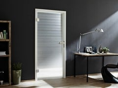 Porta in vetro decorato DECORFLOU® DESIGN LINEA -