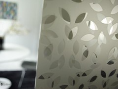 Parete mobile in vetro decorato DECORFLOU® DESIGN LAUREL -