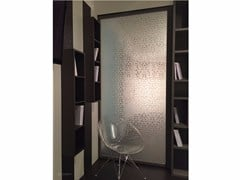 Divisorio in vetro decorato DECORFLOU® DESIGN LAUREL -