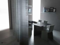 Parete mobile in vetro decorato DECORFLOU® DESIGN LINEN -