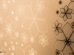 Rivestimento in vetro decorato DECORFLOU® DESIGN WIREFLOWERS -