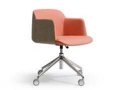 Sedia ufficio operativa girevole in tessuto con ruote DEEP | Sedia ufficio operativa - Deep