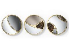 Specchio rotondo in metallo con corniceDELTA - BLACK TIE