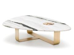 Tavolino basso triangolare in marmoDEMETRA 7007 - ARCAHORN