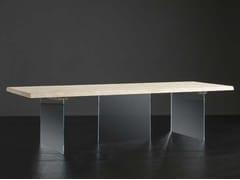 Tavolo da pranzo rettangolare in legno e vetro DENVER + ICE - ECOLAB 2