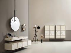 Mensolone lavabo con vasca integrata e vasi con cassettiDES 12-13 - CERASA