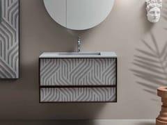 Mobile lavabo sospeso con cassettiDES CAPSULE N.1 57 - CERASA