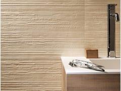 Piastrelle con superficie tridimensionale in ceramica a pasta bianca per interni DESERT GROOVE | Rivestimento tridimensionale - Desert