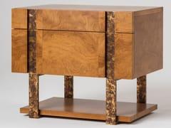 Comodino rettangolare in legno con cassettiDIADEMA | Comodino - MANTELLASSI DESIGN