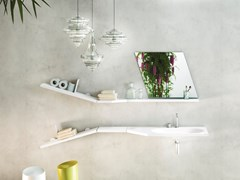 Mensola bagno in legnoDIAGOLINEA | Mensola bagno - LAGO