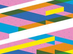 Extratapete, DIAGONAL #03 Carta da parati geometrica in carta non tessuta