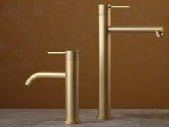 Miscelatore per lavabo da piano monocomandoDIAMETRO35 FROSTED CHAMPAGNE - RUBINETTERIE RITMONIO