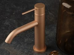 Miscelatore per lavabo da piano monocomandoDIAMETRO35 FROSTED ROSE GOLD - RUBINETTERIE RITMONIO