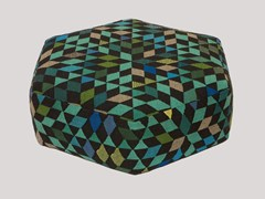Pouf imbottito in lana DIAMOND APPLEGREEN | Pouf - Triangles