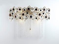Lampada da parete alogena in bronzo con cristalli DIAMOND | Lampada da parete alogena - Diamond