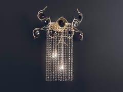 Lampada da parete alogena in bronzo con cristalli DIAMOND | Lampada da parete con cristalli - Diamond