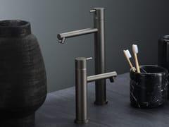 Miscelatore per lavabo da piano monocomandoDIAMETRO35 FROSTED BLACK CHROME - RUBINETTERIE RITMONIO