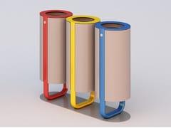 Portarifiuti in acciaio zincato per raccolta differenziataDIAPASON TRIS | Portarifiuti - DIMCAR