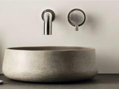 Miscelatore per lavabo a 2 fori a muro in acciaio inox con aeratore DIMENSIONE74 5152-6234 - DIMENSIONE74