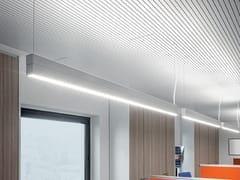 Lampada a sospensione a LED a luce diretta e indiretta in alluminio estruso DINAMICA   Lampada a sospensione a luce diretta e indiretta - Dinamica