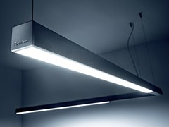 Lampada a sospensione a LED a luce diretta in alluminio estruso DINAMICA   Lampada a sospensione - Dinamica