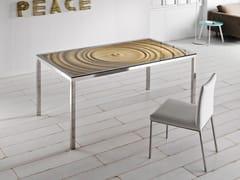 Tavolo da pranzo in acciaio e legnoAQUA   Tavolo da pranzo - ALTINOX MINIMAL DESIGN